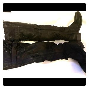 Charlotte Russe knee high boots black size 9